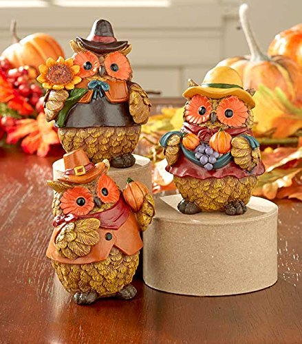 Thanksgiving Harvest Owls Set
