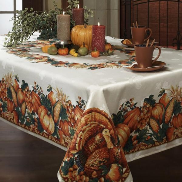 16 Ideal Tablecloths For Thanksgiving Walyou - Thanksgiving-table-cloth