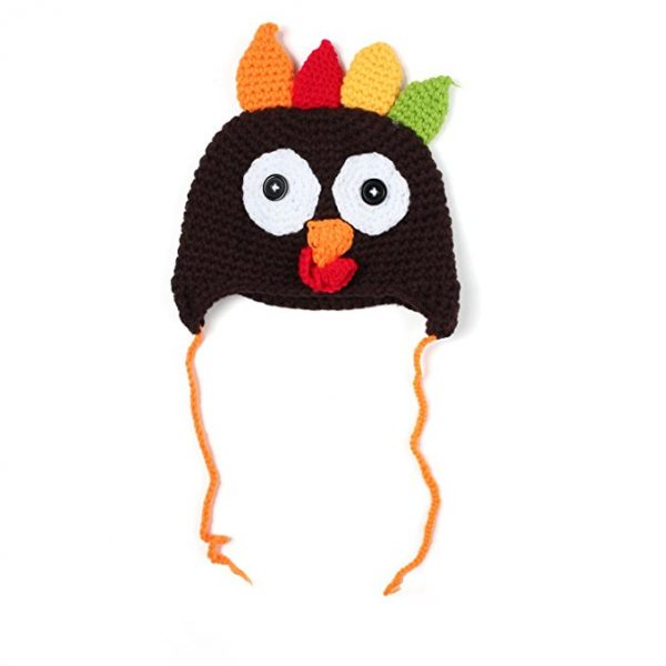 Thanksgiving Knitted Crochet Turkey Beanie Cap for Babies
