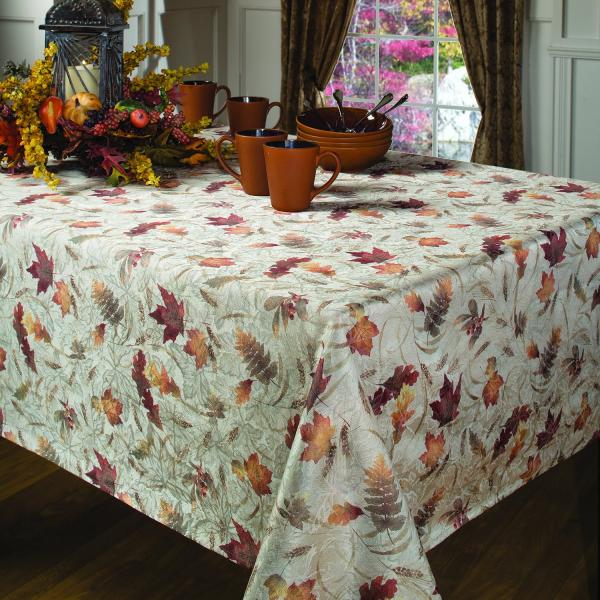 Thanksgiving Nature & Leaves Tablecloth