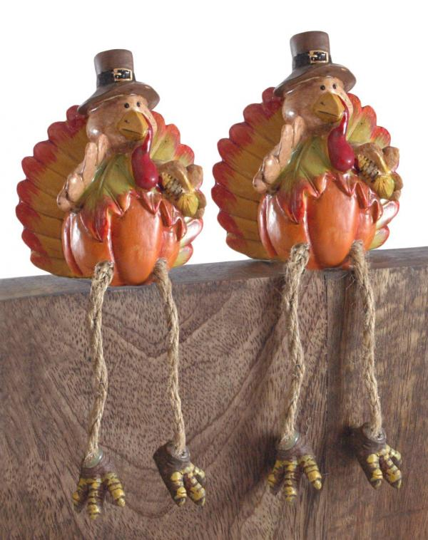 Thanksgiving Pumpkin Turkey Shelf Sitters