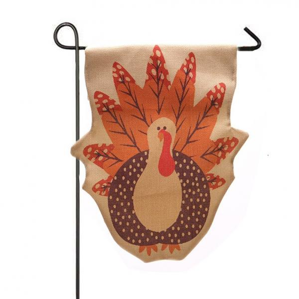 Turkey Garden Flag for Thanksgiving