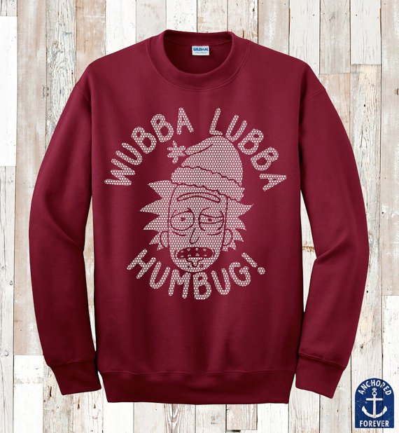 wubba-lubba-humbug-ugly-christmas-sweater