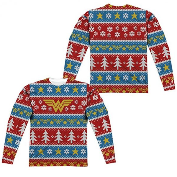 Wonder Woman Ugly Christmas Sweater