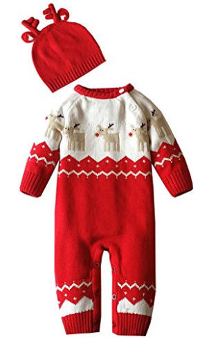 ZOEREA Knitted Reindeer Christmas Sweater