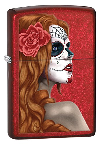Zippo Day of the Dead Lighters Red