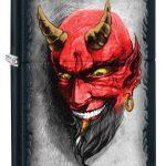 Zippo Villain Lighters Black Matte Devil