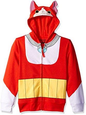 yo-kai watch jibanyan costume zip hoodie
