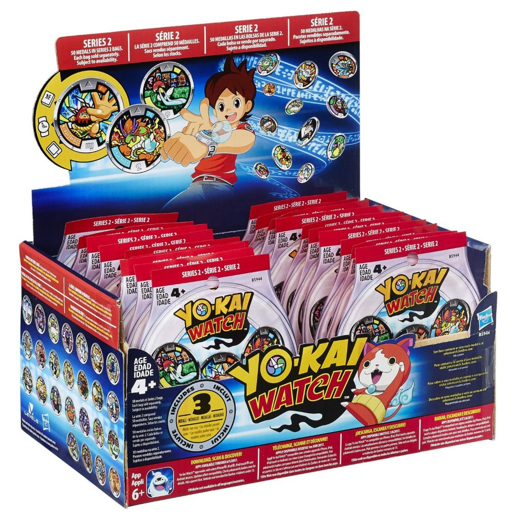 yo-kai watch series 2 medal mystery bag collection