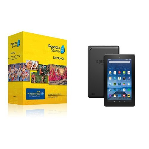 Amazon Fire 7-Inch Tablet With Rosetta Stone