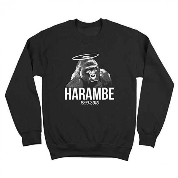 Harambe Angel Halo Sweatshirt