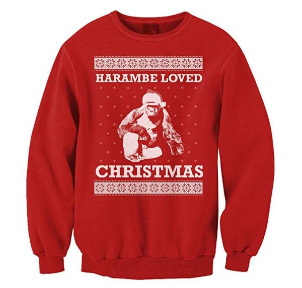 Harambe Loved Christmas Sweatshirt