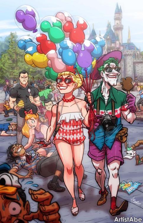 Joker & Harley by Abe Lopez