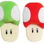 super-mario-red-green-mushrooms-soft-plush-slipper-pair