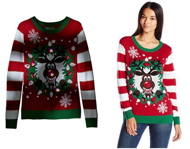 ugly-christmas-sweater-womens-light-up-reindeer-wreath