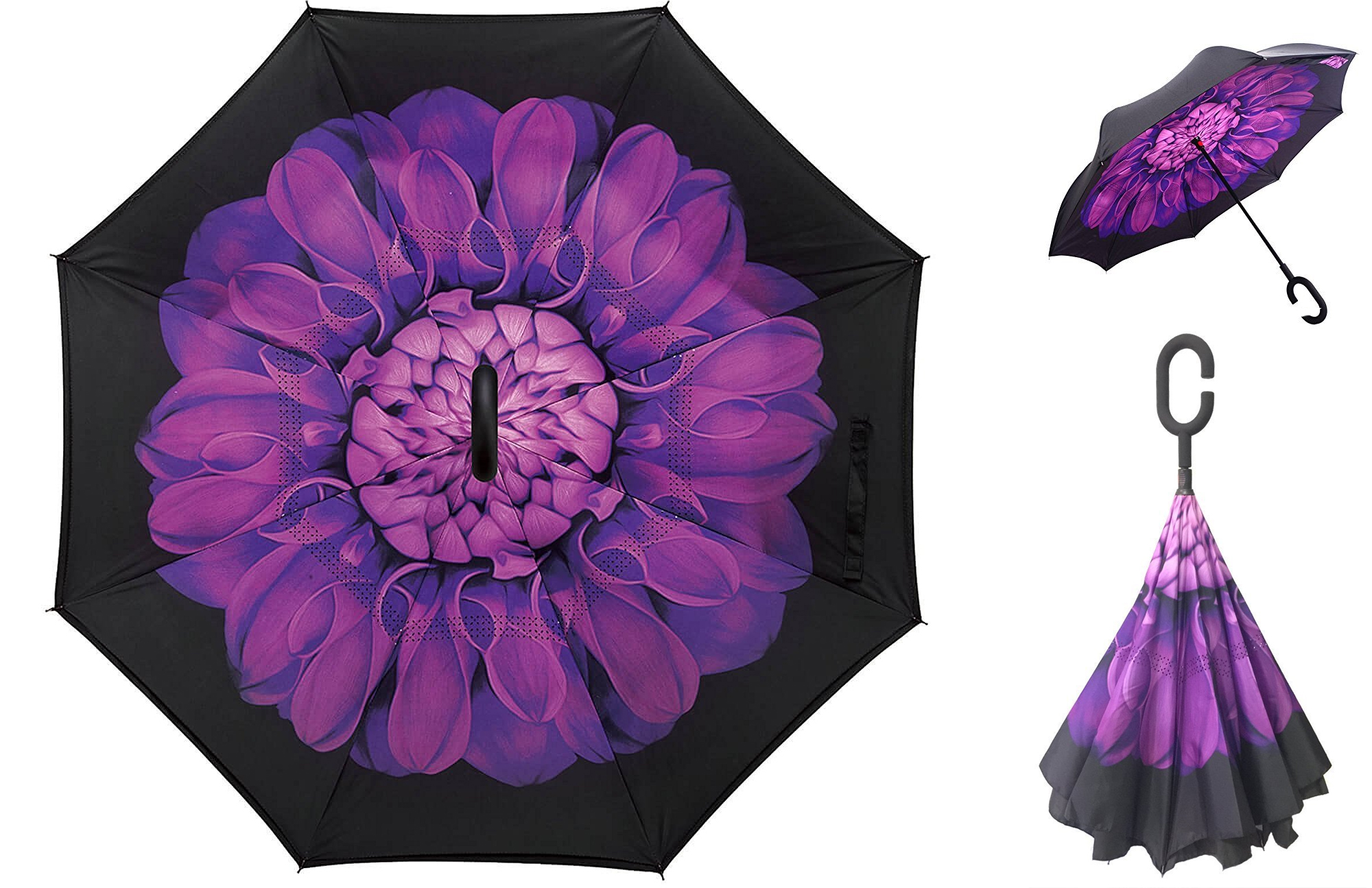 unique-gift-ideas-for-her-aweoods-double-layer-inverted-umbrella-cars-reversible-umbrella