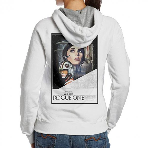 Women's Star Wars Rogue One Jyn Erso Poster Hoodie