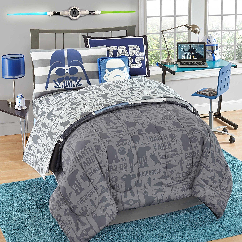 best-2016-star-wars-bedroom-sheets-star-wars-saga-comfy-classic-7-pc-comforter-set-full