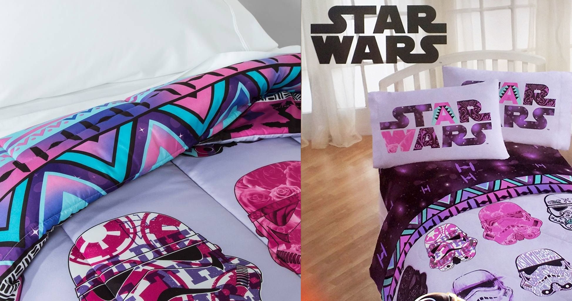 best-star-wars-girls-4-piece-bedding-set-reversible-comforter-and-sheets