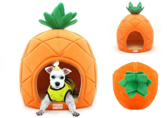 funny-dog-cat-gift-ideas-pet-bedpesco-dog-house-pineapple-shape-cute-dome-house-soft-bed-dog-cat-puppy-mat-pad