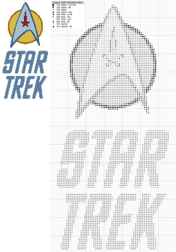 10-free-geeky-cross-stitch-star-trek-logo