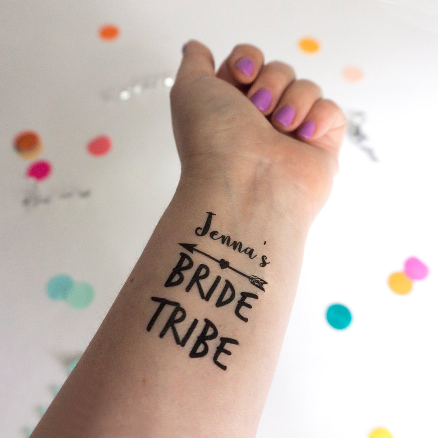 2017-best-realistic-looking-temporary-fake-tattoos-etsy-bride-tribe-temporary-tattoos-bachelorette-party