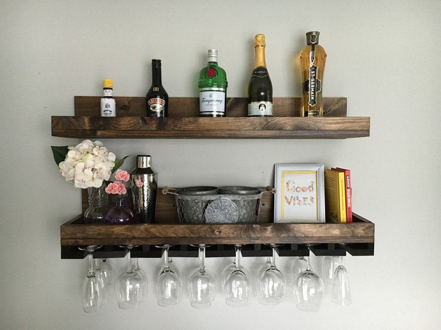 30-stylish-products-to-organize-your-house-rustic-wood-wine-rack