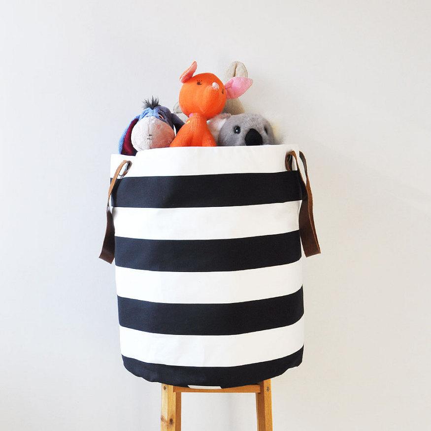 30-stylish-products-to-organize-your-life-black-white-toy-storage-basket