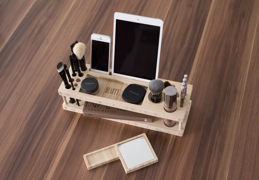 30-stylish-products-to-organize-your-life-glass-beauty-station-daily-make-up-organizer-with-mirror