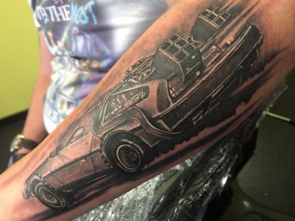 DeLorean Tattoo