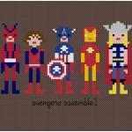 The Avengers Cross Stitch Pattern