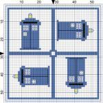 Tardis Cross Stitch Pattern
