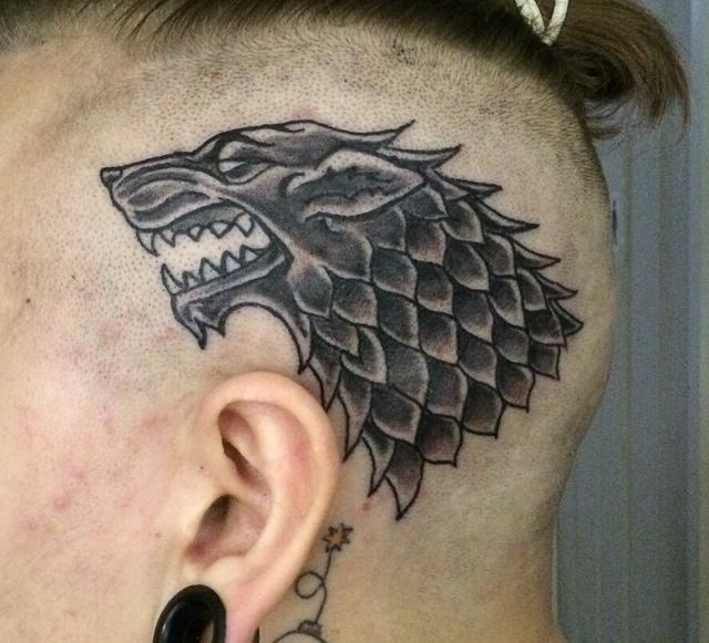House Stark Direwolf Tattoo