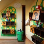Mario-themed shelves