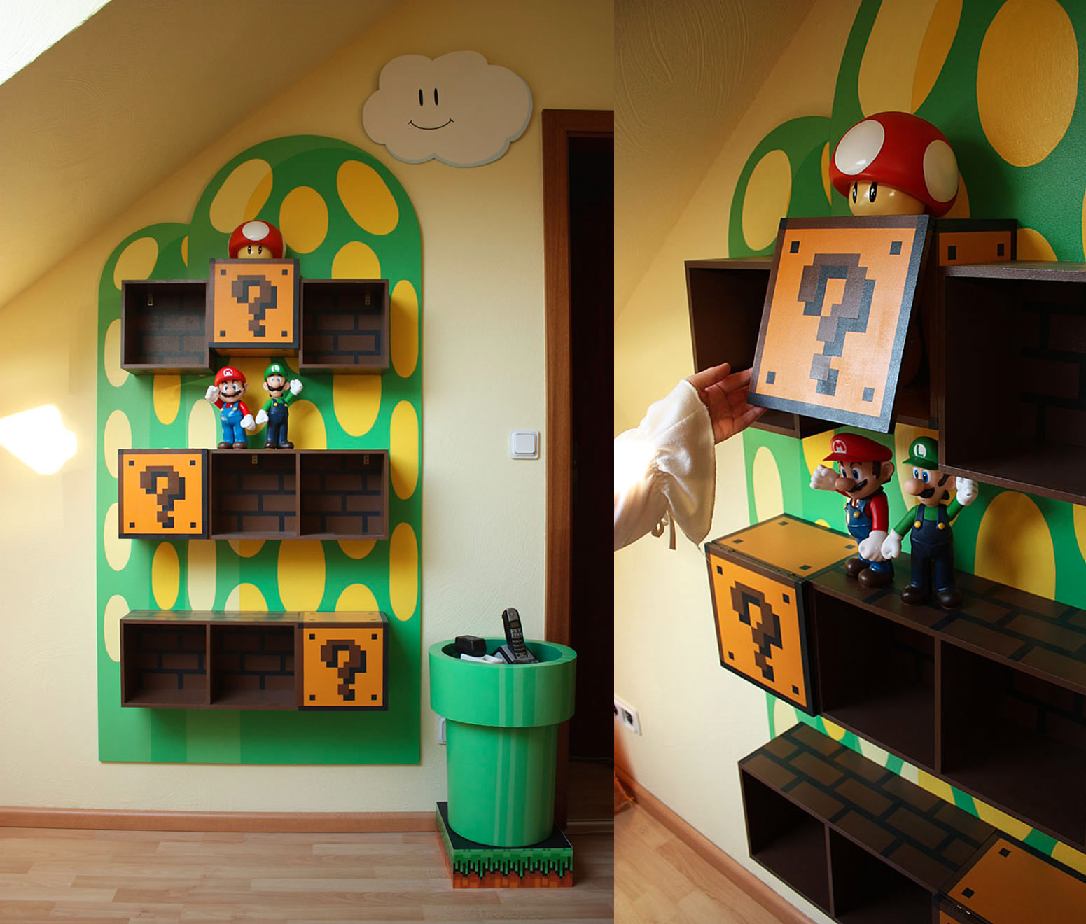 Mario Themed Shelves