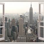 New York Window Wall Decal