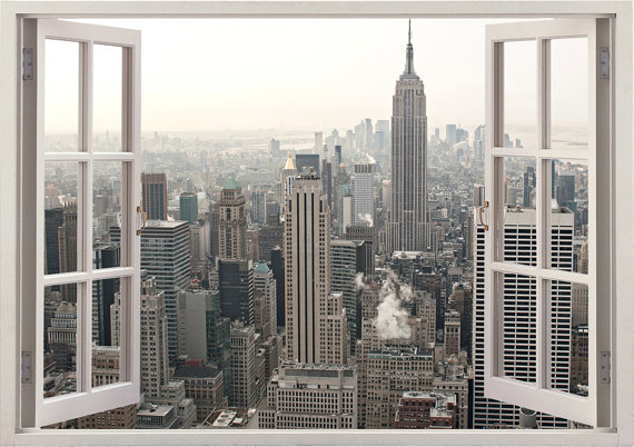 New York Window Wall Decal