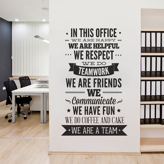 Office Typography Decal