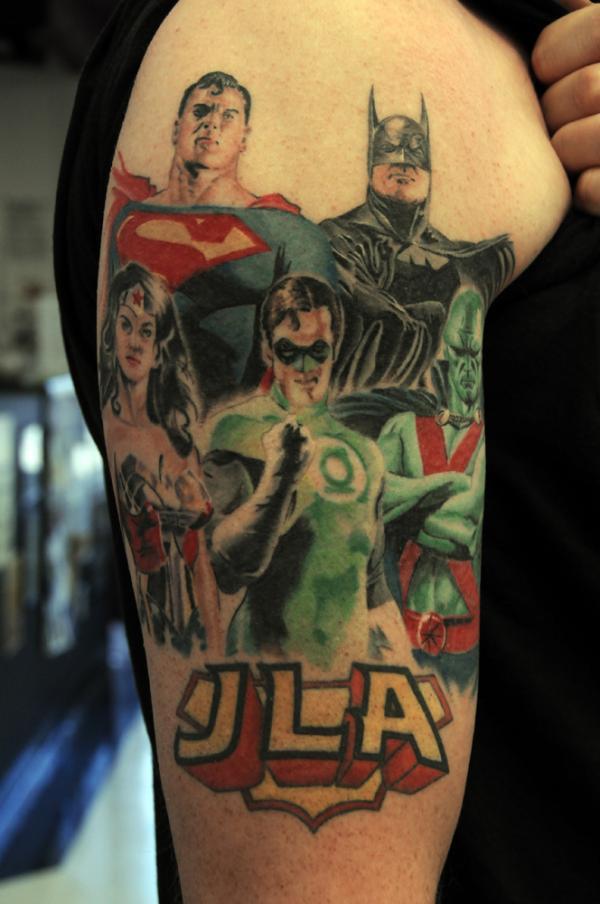 Old School Justice League Tattoo