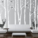 Snowy Forest Wall Decal