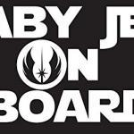 Star Wars Baby Jedi Car Decal