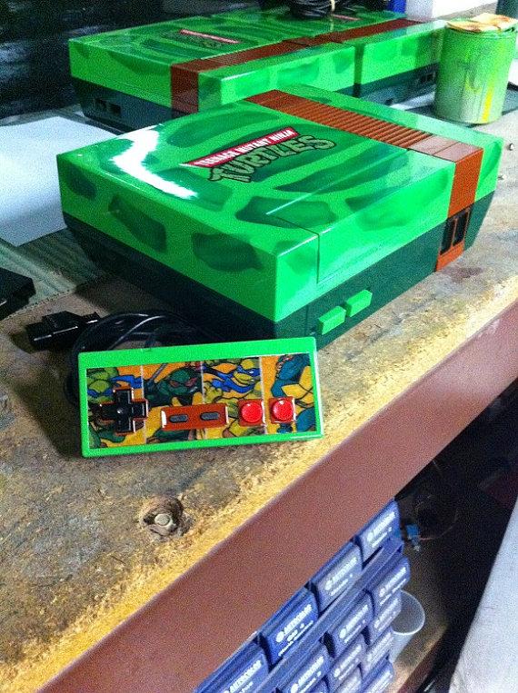teenage-mutant-ninja-turtles-custom-nintendo-nes-with-controller