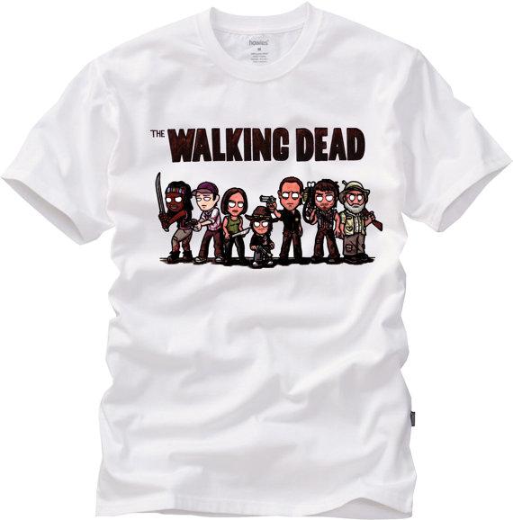 The Walking Dead Cartoon Style T-Shirt