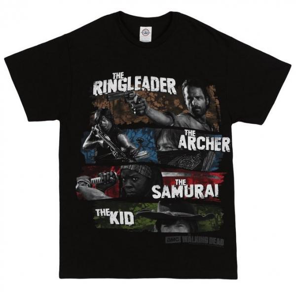 The Walking Dead Four Survivors T-Shirt