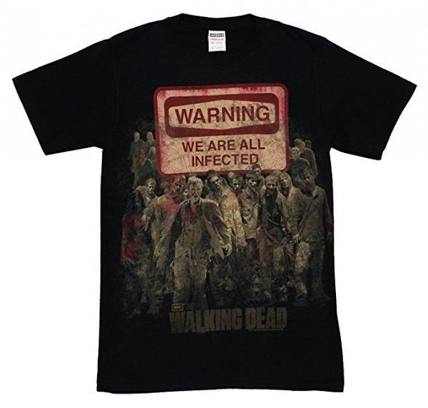 The Walking Dead Warning Sign T-Shirt
