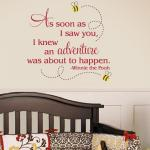 Winnie the Pooh Adventure Quote Wall Decal