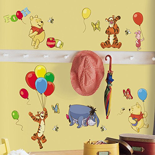 Winnie the Pooh Balloons Wall Decal