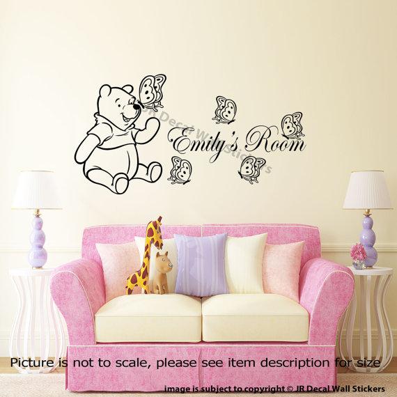 Winnie the Pooh Butterflies Wall Decal