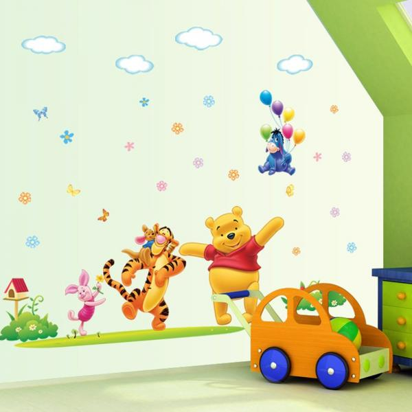 Winnie the Pooh Wall Decal With Eeyore Flying