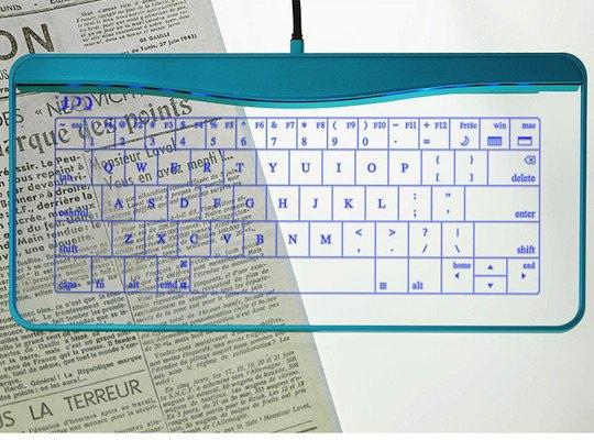Best Funny Weird gadgets Q-gadget KB01 Touchpad Glass Keyboard